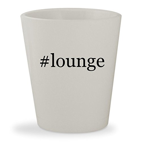 #lounge - White Hashtag Ceramic 1.5oz Shot Glass (Pillow Midnight Rendezvous)