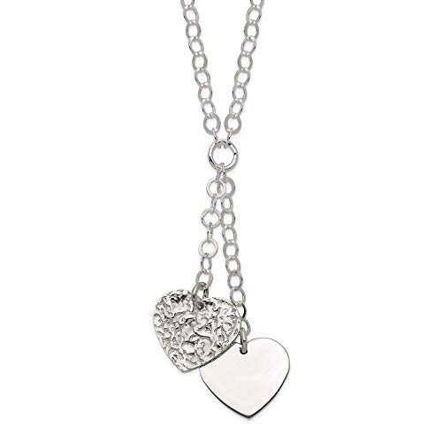 (925 Sterling Silver Heart Chain Necklace Pendant Charm S/love Fine Jewelry Gifts For Women For Her )