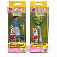 The Brady Bunch 3-d Animator Action Puppet - Push Puppets Set of 2 Jan and Alice ()