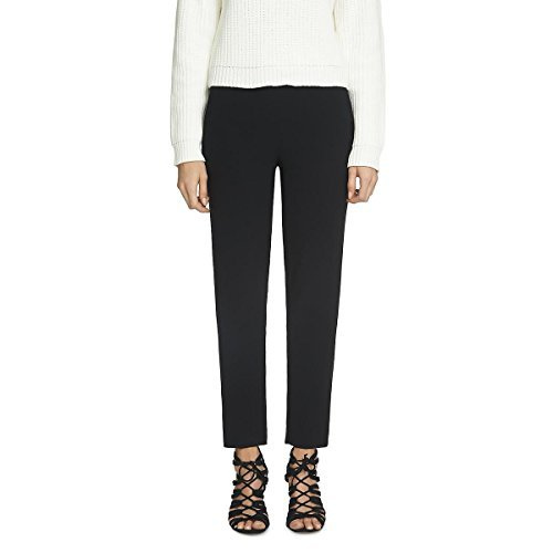 1.State Womens Bedford Straight Leg Cropped Casual Pants Black 0