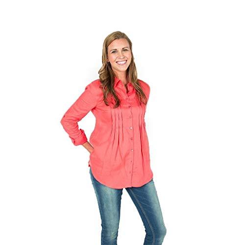 TYLER BOE Pin Tuck Linen Shirt in Raspberry Final Sale - Final Sale Linen Shirt