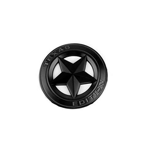 2pcs OEM Black Texas Edition Emblem Badge 3D Nameplate Replacement for Tacoma Tundra Silverado RAM 1500 2500 QUK