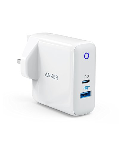 Anker Wall Charger USB C, 33W 2-Port Compact USB C Charger with 18W Power Delivery and 15W PowerIQ 2.0, PowerPort PD+ 2 for iPad Pro 2018, iPhone 11 / iPhone 11 Pro/XS/XR/X, Huawei P20/P30 and More