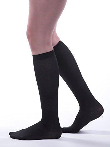 Allegro Women's 15-20mmHg Premium 247 Ribbed Dress Compression Socks