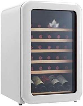 GXFC Refrigerador de Vinoteca Retro, 30 Botella Nevera de Vino Tinto/Blanco Independiente, 5 ° C - 18 ° C Almacenamiento a Temperatura Constante