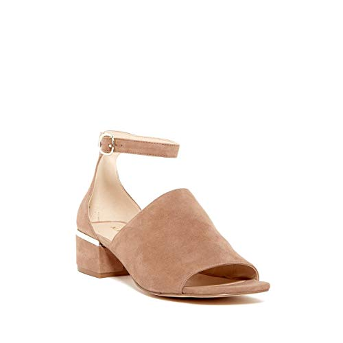 (Nine West Womens Yorada Leather Open Toe Casual Ankle, Natural Suede, Size 9.0)