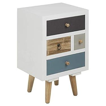 AC-Design-Furniture-Mesita-de-Noche-Cajones-Multicolores-Suwen-Patas-de-Pino-Pintura-Transparente-4-Piezas-Blanco-36-x-30-x-59-cm