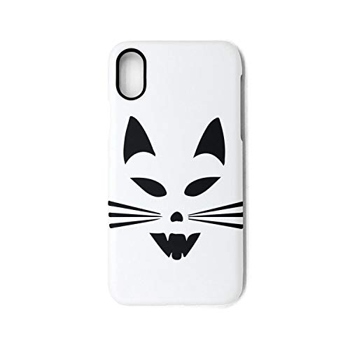 Scary Cat Face Halloween Phone Case for iPhone X Unisex Slim Skid-Proof Back Cover Protector ()