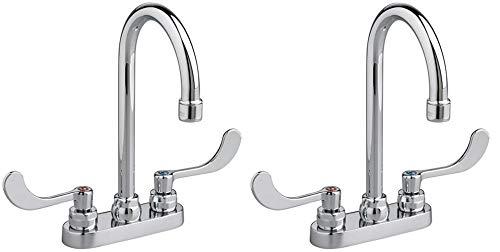 (American Standard 7500.170.002 Monterrey Centerset Gooseneck Lavatory Faucet, Chrome (Pack of 2))