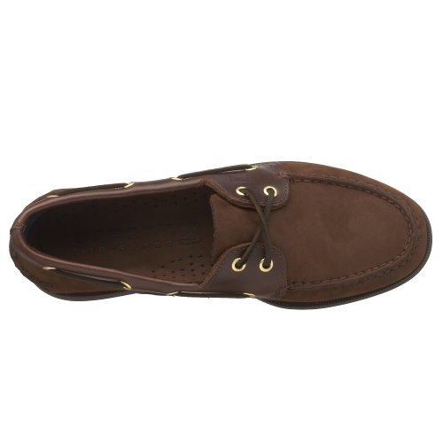 Sperry 0195 - Náuticos de cuero para hombre, color marrón, talla 44,5 Brown Buc Brown