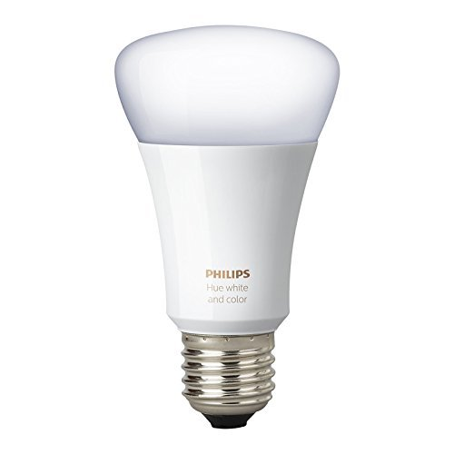 Philips Hue White and Color Ambiance 3rd Generation A19 10W Equivalent Dimmable LED Smart Bulb (Certified Refurbished)