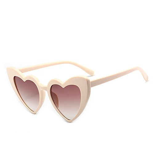 Shape Sexy Clear Glasses Black C4 Pink Vintage New For Lens 9218 Eyewear C6 Women Beige Tea Accessories Heart PinkGray Sunglasses Fygrend Sun Woman q0FnUEzz
