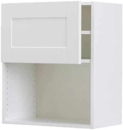 Ikea Faktum Wall Cabinet For Microwave Oven Adel Off White Amazon Co Uk Kitchen Home