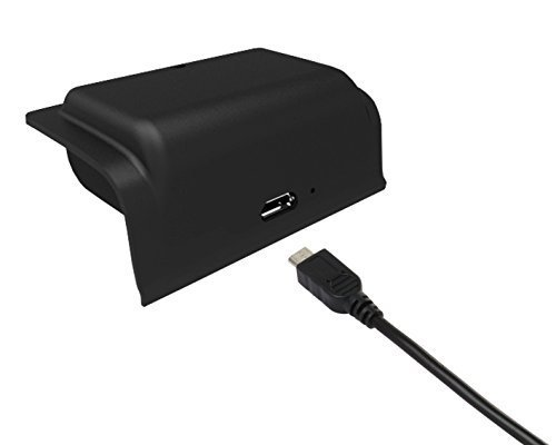 (Rechargeable Xbox One Controller 1200mAh Snap-In Battery Pack with 3ft USB Charging Cable for Xbox One Controllers, Black)