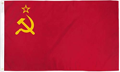 WILDFLAGS 2x3 USSR Flag Soviet Union Russian Communist Party Banner Communism Pennant