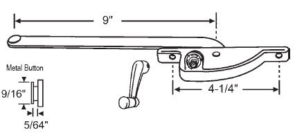 (STB Casement Window Operator, Right Hand, Face Mount, Bronze, 9