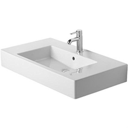 (Duravit 0329850000 - Furniture washbasin 85cm Vero white with OF, with TP, 1)