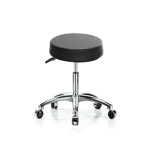 Cheesea Synthetic Leather Round Adjustable Wheels Modern Stool for Salon, Massage, Office and Medical For Sale