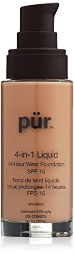 PÜR 4-in-1 Liquid Foundation in Golden Medium, 1 Ounce