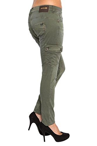 Lost Kaki Paradise Jeans Slim in Femme Vert prYqpwf