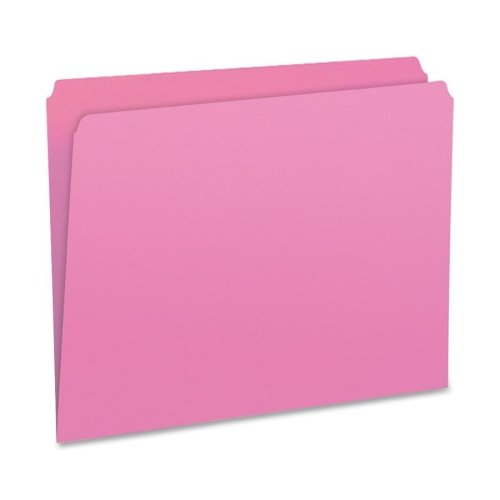 2 Pli Tab (Wholesale CASE of 10 - Smead Assorted 2-Ply Tabs Straight Cut Folders-File Folder, Straight Tab Cut, Letter, 100/BX, Pink)