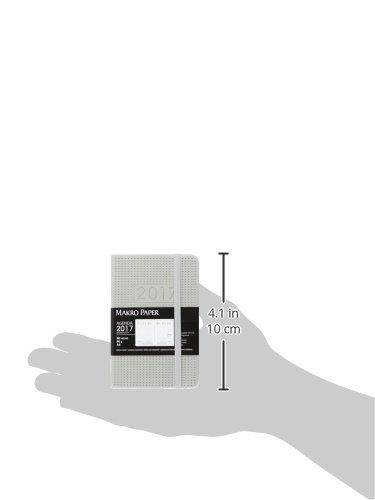 Makro Paper JS15079-GY - Agenda con textura de puntitos, semana vista, 90 x 140 mm
