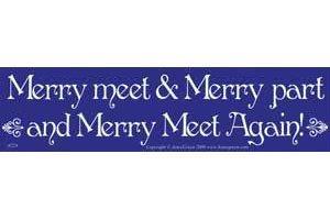AzureGreen EBMER Merry Meet & Merry Part and Merry Meet Again! Bumper Sticker