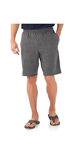 Fruit of the Loom Mens Jersey Short (4XL, Charcoal - Heather Deep Charcoal