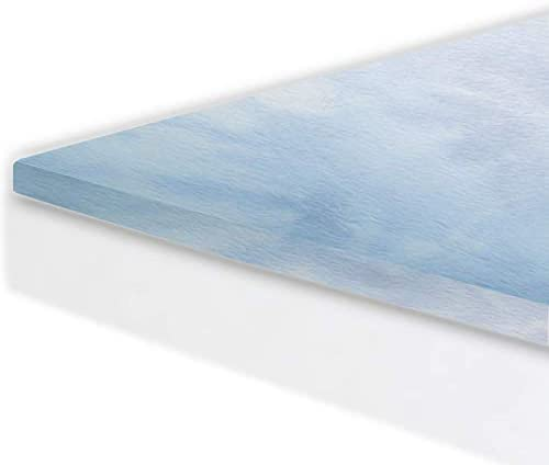 Gel Memory Foam Mattress Topper Pad Full Size Bed – Made in The USA – 2 Inch Full Mattress Topper for Extra Padding – Medium Soft Gel Infused Toppers – 3 Year Warranty