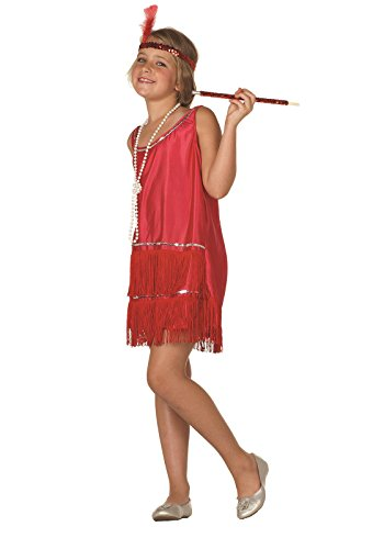 Deluxe Red Flapper Costumes (RG Costumes 91033-R-M Deluxe Red Flapper Costume - Size Child-Medium)