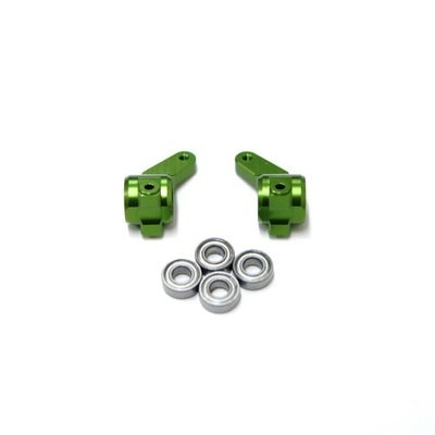 - ST Racing Concepts ST3636G STRC Oversized Aluminum Front Steering Knuckles with Bearings (Green)