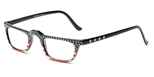Readers.com The Americana +2.50 Stars on top Patriotic American Flag Rectangle Reading Glasses