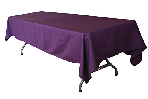 AK TRADING COMPANY AK-Trading 60 x 126-Inch Rectangular Polyester Tablecloth - MADE IN USA (Plum)