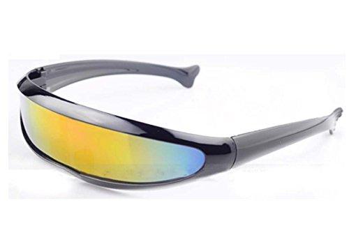 e75876d7ac55d Futuristic Cyclops Shield Sunglasses For Cosplay Mirrored Lens Visor Narrow  Cyclops Novelty Party Shield © ™