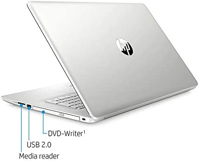 "2020 HP 17.3"" HD+ Touchscreen Laptop Computer, tenth Gen Intel Core i5-1035G1, 8GB RAM, 256GB PCIe SSD, Full-Size KB, HD Audio, HD Webcam, Intel UHD Graphics, Win 10, Silver, 32GB SnowBell USB Card"