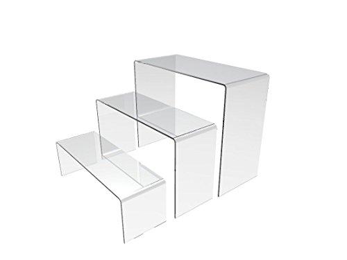 Acrylic Shoe Displays (Fixture Displays Acrylic Plexiglass Clear Riser Set of Three 13804)