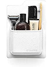 Silicone Toiletry Organizer - Waterproof Toothbrush Holder/Razor Holder for Small Toiletry Items. Designed for Shower and Bathroom. Features Silicone Grip Technology - Reusable