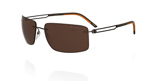 Silhouette Titanium Sunglasses Titan Profile Matte Brown Polarized - Silhouette Titan Sunglasses