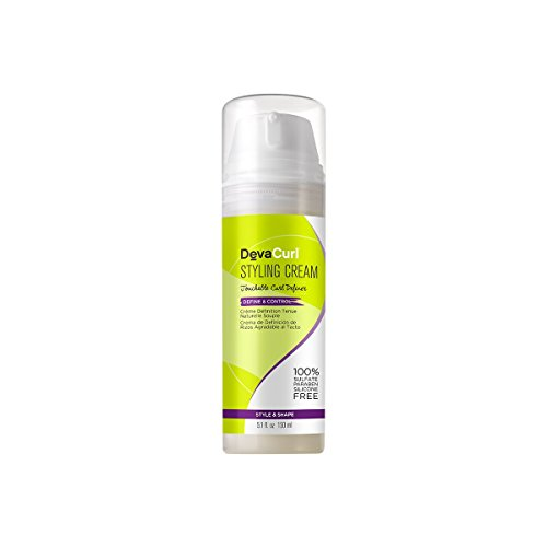 DevaCurl Styling Cream, Define and Control, Touchable Hold, 5.1 Ounce