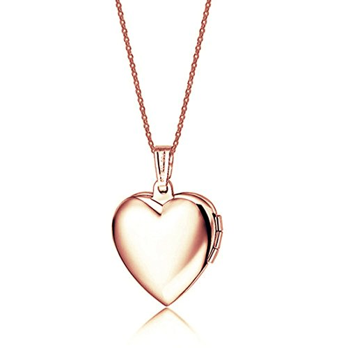 Picture Frame Locket - Stainless Steel Friend Photo Picture Frame Heart Locket Pendant Necklace NGG245-RB