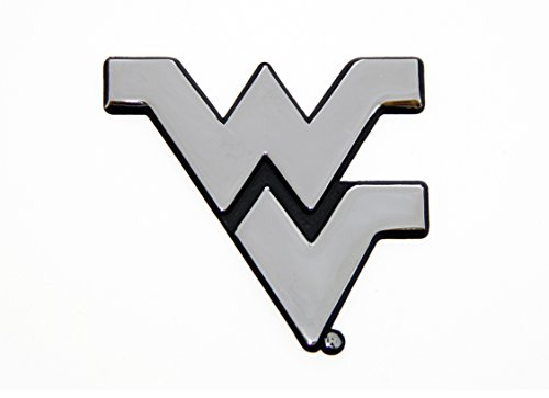 - West Virginia University WVU Mountaineers Metal Auto Emblem - Many Available! (Chrome)