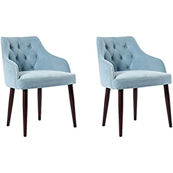 Amazon Com Fabric Tufted Upholestered Dining Chairs
