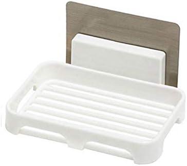 SSN Baño ningún Rastro Pegatinas mágicas perforación Libre de Caja de jabón de Drenaje montada en la Pared Resistente al Agua Caja de jabón jabón Rejilla de aspiración Estante for Platos Esponja: