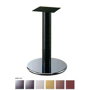 e-kanamono テーブル脚 ラウンドS7400 ベース400φ パイプ60.5φ 受座240x240 ステンレス/塗装パイプ AJ付 高さ700mmまで ゴールドメタリック B012CF5ISE ゴールドメタリック ゴールドメタリック