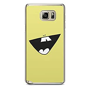 Smiley Samsung Note 5 Transparent Edge Case - Design 1