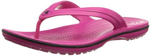 crocs Unisex Crocband Flip-Flop,  Candy Pink, 9 US Men / 11 US Women]()