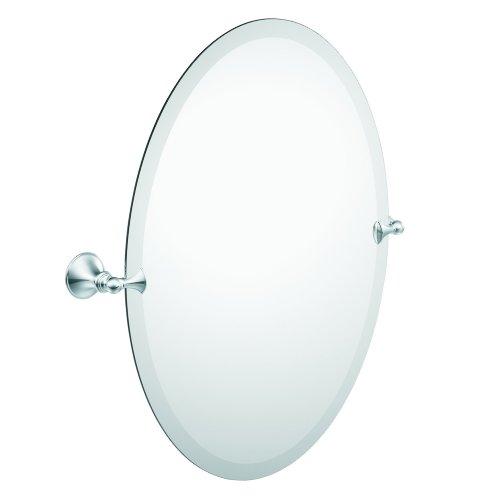 DN2692CH Glenshire Bathroom Oval Tilting Mirror, Chrome