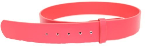 Deal Fashionista Men's Plain Leather Strap Snap On Belt S Red