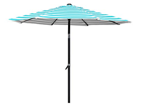 HERMO 758S Roun 7.5 Ft Outdoor Patio 8 Ribs Market Table Umbrella, Green ()