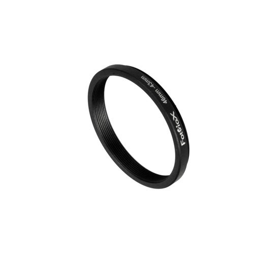 Fotodiox Metal Step Down Ring, Anodized Black Metal 46mm-43mm, 46-43 mm